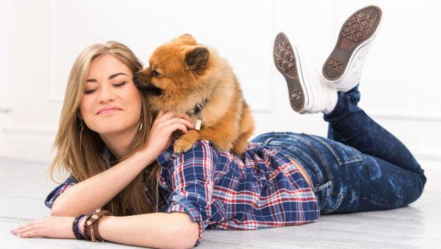لیس زدن سگ