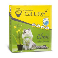 خاک گربه ون کت اولتراکلامپینگ مخصوص گربه های حساس حاوی مواد آنتی باکتریال