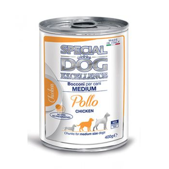 کنسرو چانک مخصوص سگ بالغ نژاد متوسط با طعم مرغ