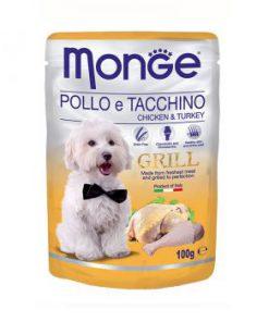 پوچ گریل مخصوص سگ بالغ با طعم مرغ و بوقلمون