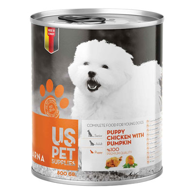 کنسرو غذای سگ یو اس پت مدل Pumpkin