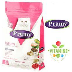 غذای خشک پرامی مخصوص بچه گربه 1.5kg
