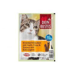 Dein Bestes, Cat Snack, Chicken and Duck, 5*5gr