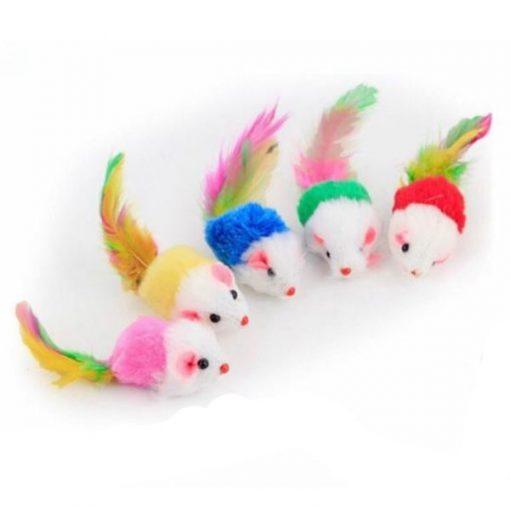 اسباب بازی گربه موش دم پر رنگی