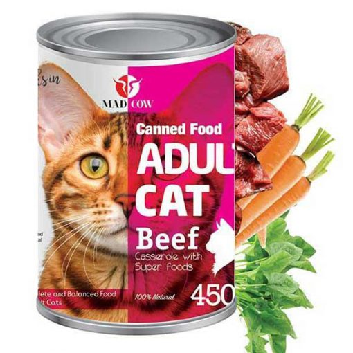 کنسرو گربه مدکوو با طعم گوشت