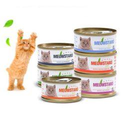 کنسرو گربه meowstard با طعم های مختلف 80gr