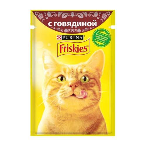 پوچ گربه با طعم گوشت گوساله فریسکیز - اورجینال