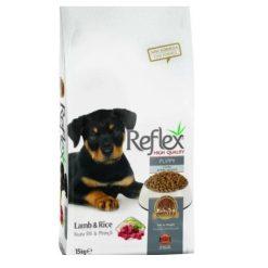 غذای خشک توله سگ رفلکس با طعم برنج و بره 3kg + ارسال رایگان