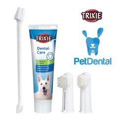 ست مسواک و خمیر دندان سگ تریکسی