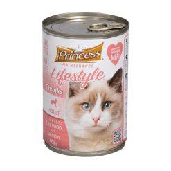 کنسرو غذای گربه پرینسس طعم ماهی سالمون 405gr