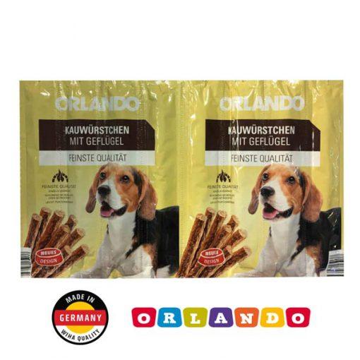 تشویقی مدادی سگ اورلاندو با طعم مرغ 8 عددی